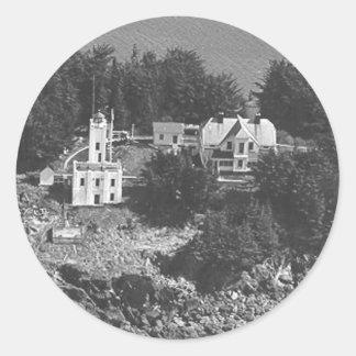 Sentinel Island Lighthouse Round Sticker