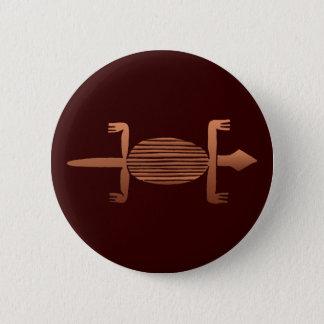 Senufo lizard lizard 6 cm round badge