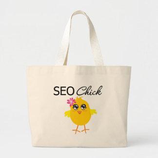 SEO Chick Jumbo Tote Bag