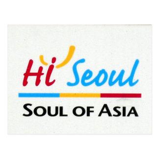 seoul asia postcard