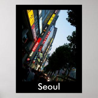 Seoul at Dusk Poster