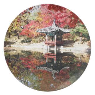 Seoul Autumn colours Plate