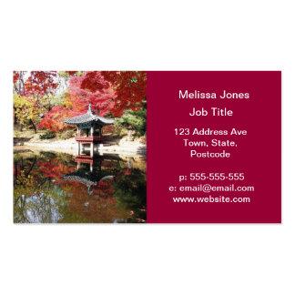Seoul Autumn Japanese Garden Business Card