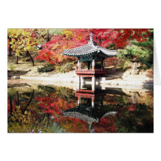 Seoul Autumn Japanese Garden Card