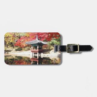 Seoul Autumn Japanese Garden Luggage Tag