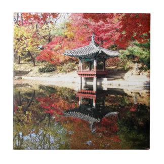 Seoul Autumn Japanese Garden Tile