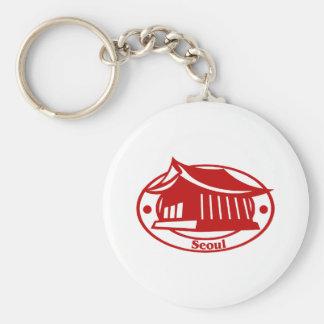 Seoul Basic Round Button Key Ring