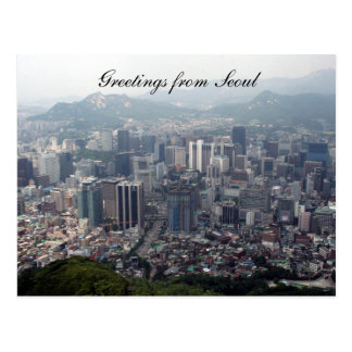 seoul city greetings post card