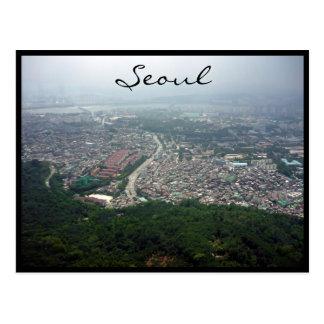 seoul city view postcard