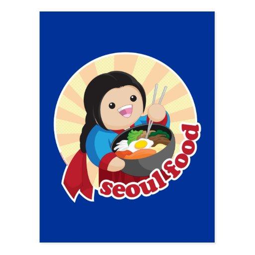 Seoul Food Postcard