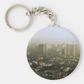 Seoul From Above Urban Photo Basic Round Button Key Ring