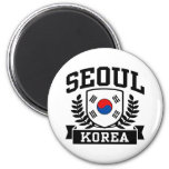 Seoul Korea 6 Cm Round Magnet