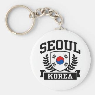Seoul Korea Basic Round Button Key Ring