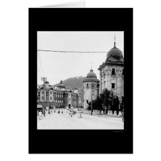 Seoul, Korea Street Scene 1912 Card