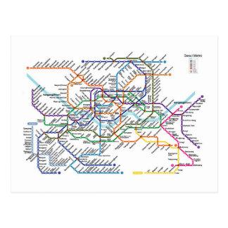 Seoul Metro Map Postcard