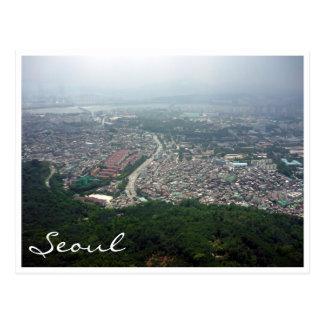 seoul view postcard