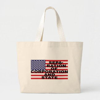 Separation of Corporation and State Jumbo Tote Bag