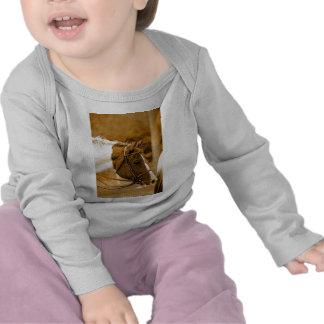 Sephia Horse Mosaics T-shirts