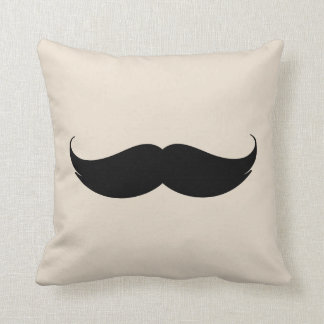 Sepia aged looking Moustache Cushion