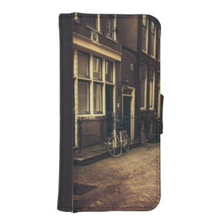 Sepia Amsterdam Street Photography, Bicycle iPhone SE/5/5s Wallet Case