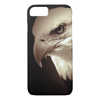 Sepia Bald Eagle iPhone 7 Case