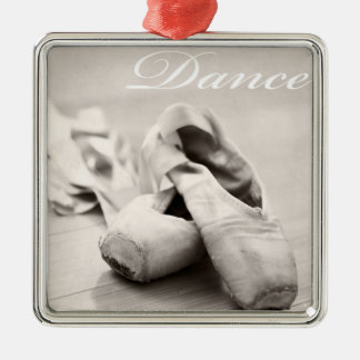Sepia Ballet Slipper Pointe Shoes Dance Template Christmas Ornament