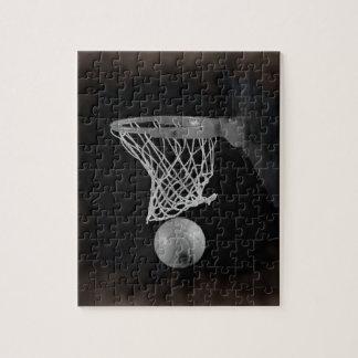 Sepia Basketball Jigsaw Puzzle