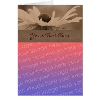 Sepia Black Eyed Susan Flower Photo Card