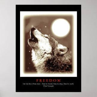 Sepia Black Unique Motivational Wolf Howls Print
