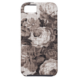 Sepia Brown Vintage Floral Toile Fabric No.4 iPhone 5 Cover