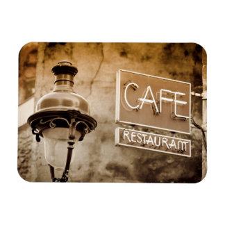 Sepia cafe sign, Paris, France Rectangular Photo Magnet