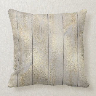 Sepia Champaign  Glam Metallic Wood Cottage Home Cushion