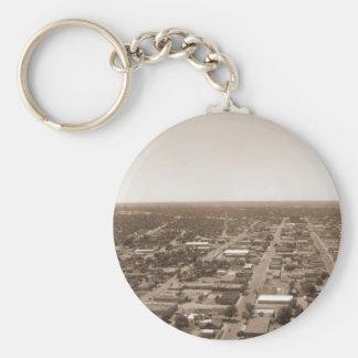 Sepia Cityscape Keychain