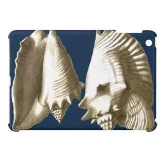 Sepia Conch Seashells Cover For The iPad Mini