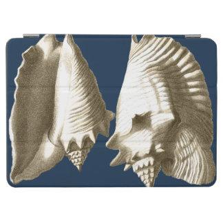 Sepia Conch Seashells iPad Air Cover