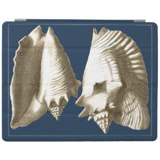 Sepia Conch Seashells iPad Cover