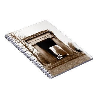 Sepia Crypt with Parasol Spiral Note Books