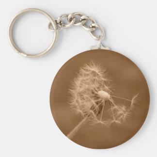 Sepia Dandelion Keychain