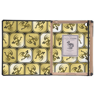 Sepia dragons pattern case for iPad