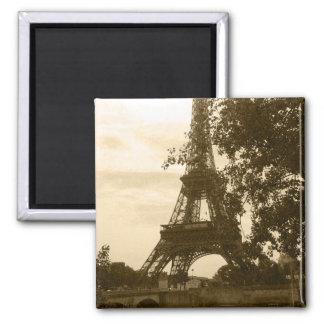 Sepia Eiffel Tower Magnet