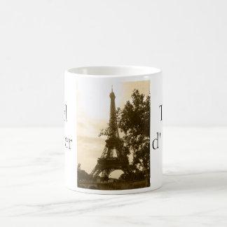 Sepia Eiffel Tower/Tour d'Eiffel Coffee Mug