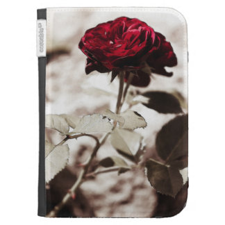 Sepia Flower,Red Rose Photograph Kindle 3G Cover