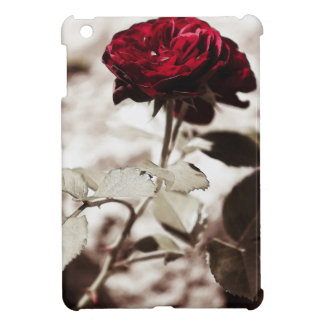 Sepia Flower,Red Rose Photograph Cover For The iPad Mini