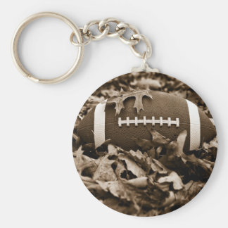 Sepia Football Key Ring