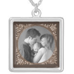 Sepia Frame Personalised Necklace