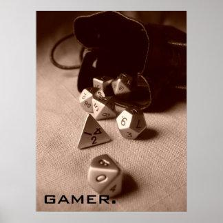 Sepia Gamer Poster