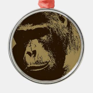 Sepia Gorilla Christmas Ornament