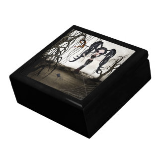 Sepia Goth Girl Large Square Gift Box