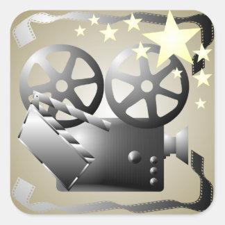 Sepia Grey Movie Cinema Theatre Sticker