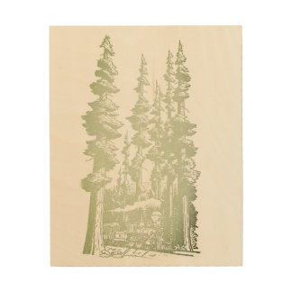 Sepia Grove Art on wood